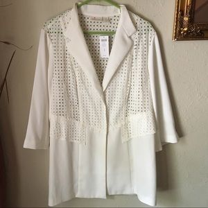 🐚Chicos white/cream blazer🐚